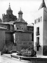 Plaza de la Marquesa o de Fray Anselmo Polanco. Fotografía de Francisco Blasco, entorno a 1955.